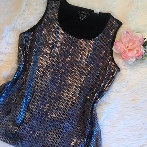 Chico's Sequined Tank Fabulous Pattern - 1